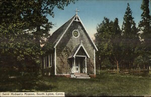South-Lyme-CT-Saint-Michael-039-s-Mission-c1910-Postcard