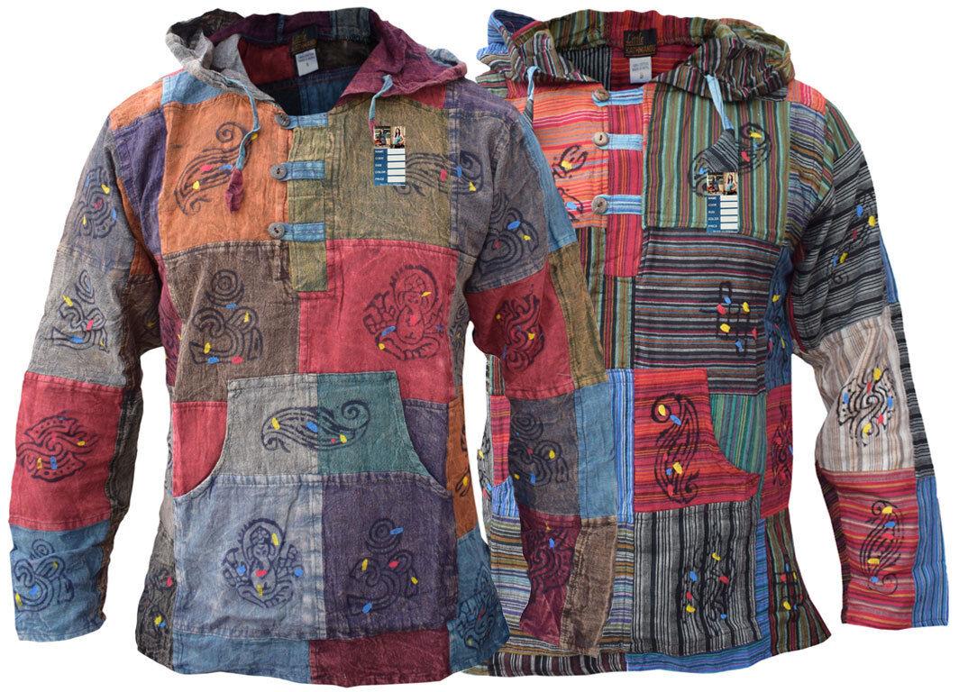 Hippie Turnhosen Opa Stonewashed Baumwolle Natürlich Hemd Om