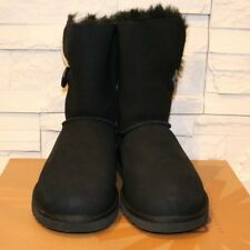 women ugg australia classic bailey button 5803 black 100 authentic rh ebay com