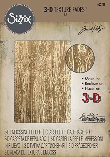Lumber 662718 Sizzix 3D Texture Fades Embossing Folder By Tim Holtz