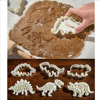 Dinosaur Animal Party Baking Fondant Biscuit Cookie Cutter Toast Cake Mold MA