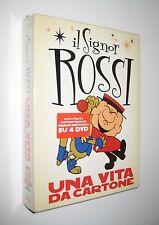 Bruno Bozzetto IL SIGNOR ROSSI - UNA VITA DA CARTONE cofanetto 4 dvd - sigillato