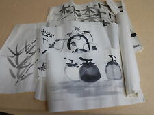 Roll Of Chinese Art Paper w/ A Few Handpainted Pieces