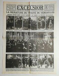 N997-La-Une-Du-Journal-Excelsior-29-juin-1919-la-signature-du-traite-Versailles