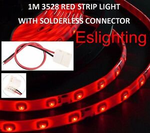 1m smd 3528 red led strip light flexible 12v waterproof car ute 4wd image is loading 1m smd 3528 red led strip light flexible aloadofball Choice Image