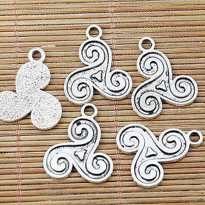 12pcs tibetan silver color symbol design charms  EF1288