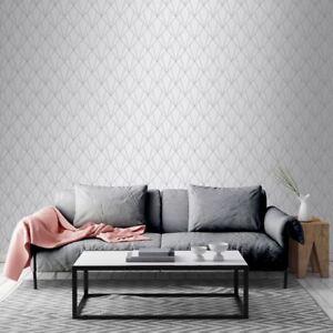 Indra Geometrische Tapeten Silber Grau Muriva 154101 Funkeln Ebay