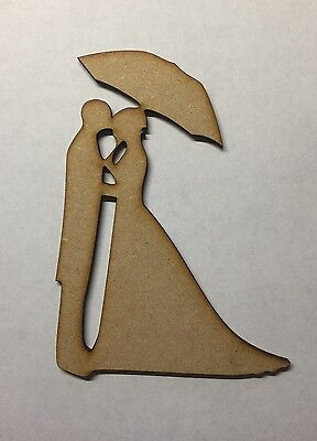 wooden Bride and Groom mdf shape couple laser cut 3mm craft wedding decor blank