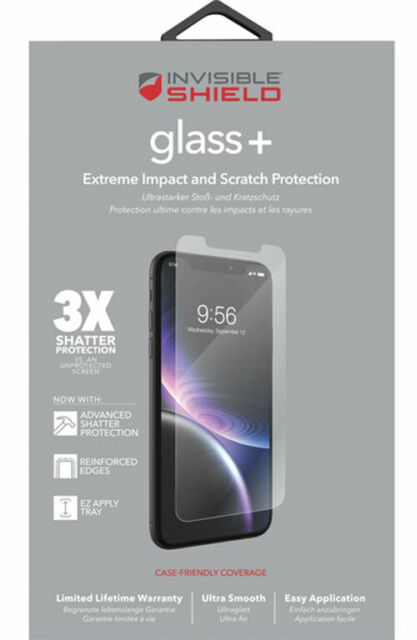 """ZAGG Apple iPhone 11 XR Invisible Shield Tempered Glass+ Screen Protector 6.1"""""""