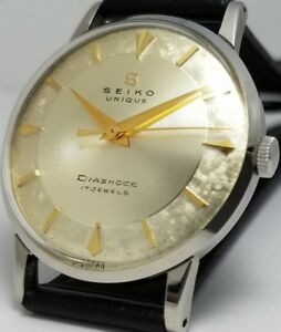 VINTAGE-Seiko-UNICO-NN-1955-MEN-039-S-WATCH-MAESTOSO-LOGO-SERPENTE-MOLTO-RARO