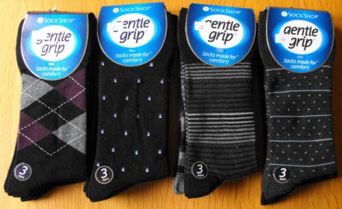 3 pair  Big Foot Gentle Grip Socks HoneyComb Non Elastic Diabetic Sock UK 12-14