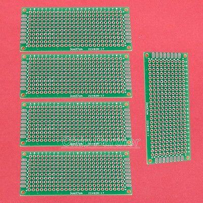 5pcs Universal Double Side Board PCB 3x7cm 1.6mm DIY Prototype Paper PCB