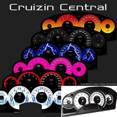 Plastic COLOUR DIALS for Holden Commodore VE HSV gauge dash tacho speedo cluster