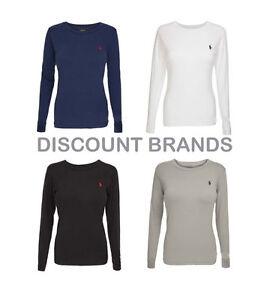 108212f5c8 Ladies Ralph Lauren Polo Custom Fit Crew Neck Long Sleeved T Shirt ...