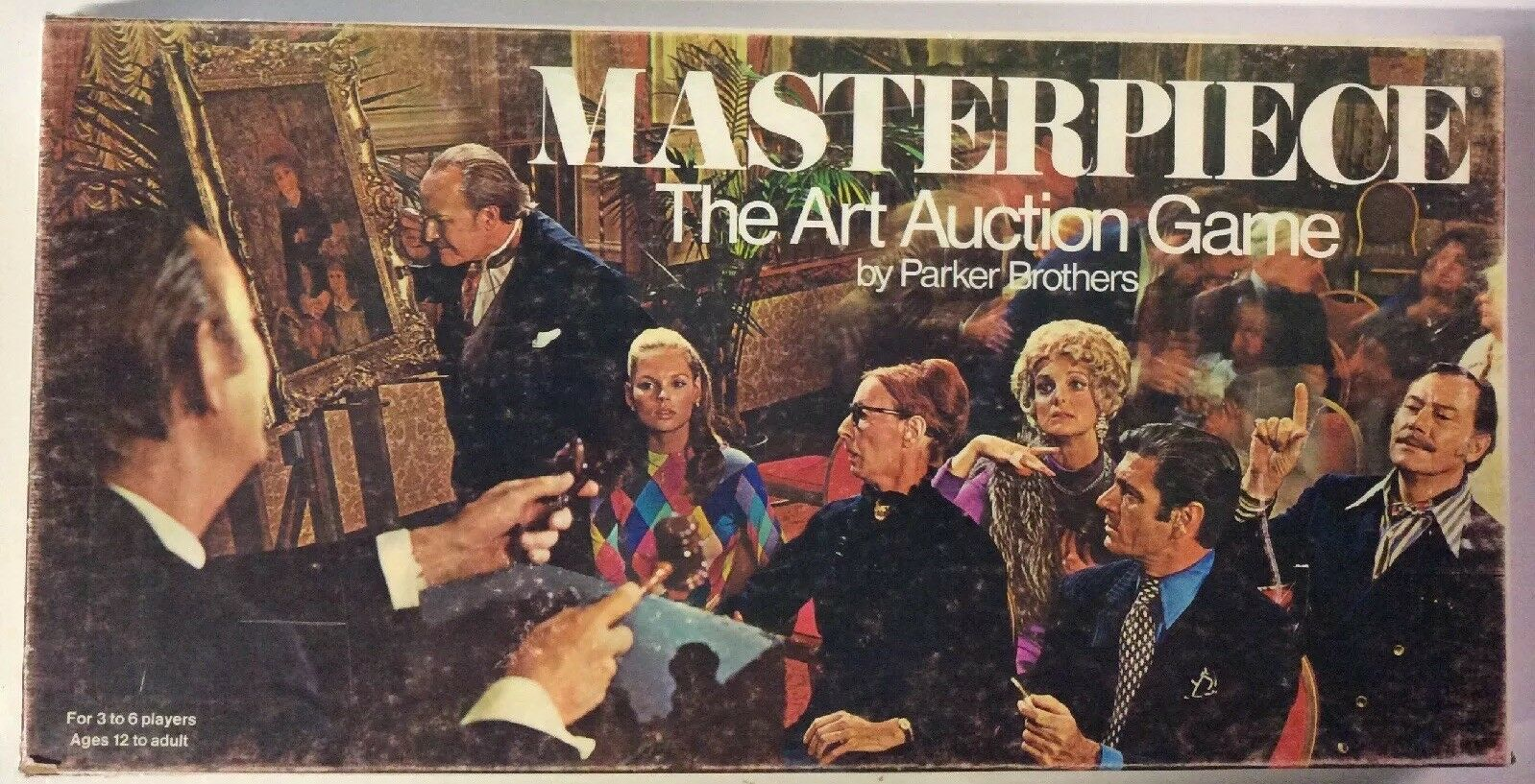 Masterpiece The Art Auction Game By Parker Brossohers (rare Vintage, 1970)