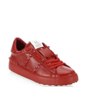 Details about Valentino Garavani 11. Women Rockstud Studded Leather  Sneakers Shoes Red $795