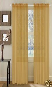 Image Is Loading Set Of 2 Sheer Voile Curtains 90 034