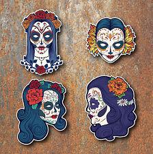 SUGAR SKULL STICKERS Day of the dead Mexican Car Motorbike Guitar Laptop Skulls