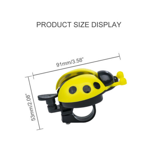 Novelty Childrens Bike Bell Bicycle Boys Girls Ladybird Bug Design Supply WH1