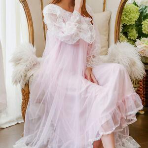Women Princess Nightdress Fairy night skirt Sweet lace Two piece suit Nightdress