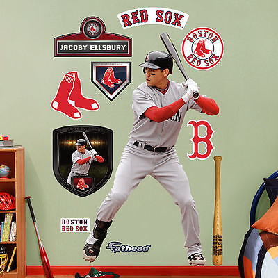 Sport Ehrlich Jacoby Ellsbury Rot Sox 114cmx196cm Fathead Echt Groß Lebensgröße Wand Grafiken Weitere Ballsportarten