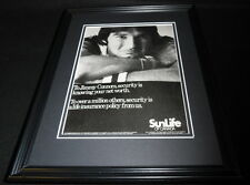 Jimmy Connors 1981 Sun Life Insurance Framed 11x14 ORIGINAL Advertisement