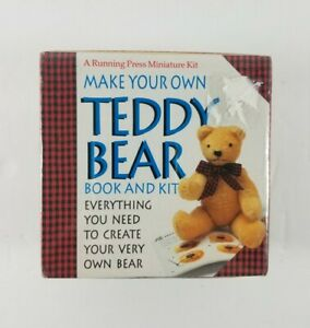 New-Vintage-Make-Your-Own-Teddy-Bear-Book-And-Kit-A-Running-Press-Miniature-Kit