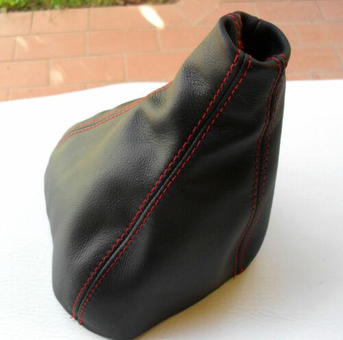 Mercedes Vito Viano W639 Shift Boot Black Genuine Leather Red Stitching