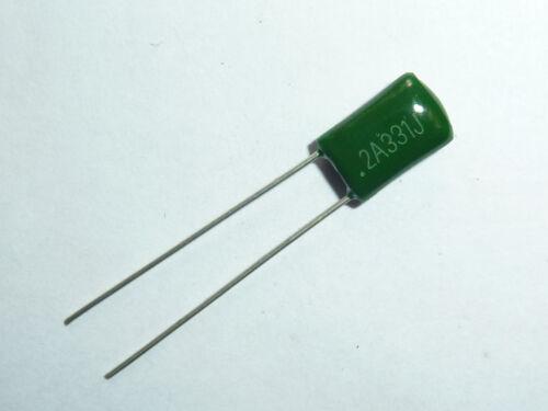 10pcs 2A331 0.00033uf 0.33nf 330pf 100V Mylar Film Capacitor