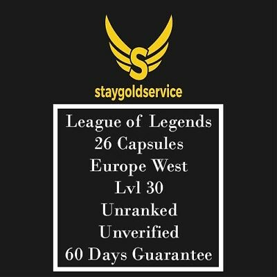 LoL Account League of Legends  | EUW | Level 30 | 26 Capsules |  Unranked