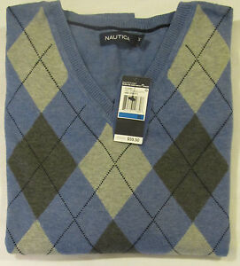 NAUTICA-PULLOVER-V-NECK-SWEATER-SIZE-X-LARGE-MSRP-59-50