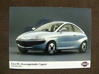 Offizielle Website Nissan Cypact Konzeptstudie Presse-foto Werk-foto Press Photo 09/1999 n0024