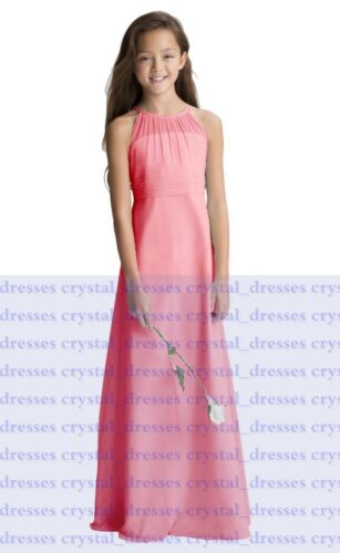 Classical Princess Junior Girl Dresses Floor length Bridesmaid Dress 2-14 years