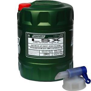 20-L-FANFARO-LSX-5W-30-API-SN-CF-Motoroel-Ol-vollsynthetisch-Oil-Auslaufhahn
