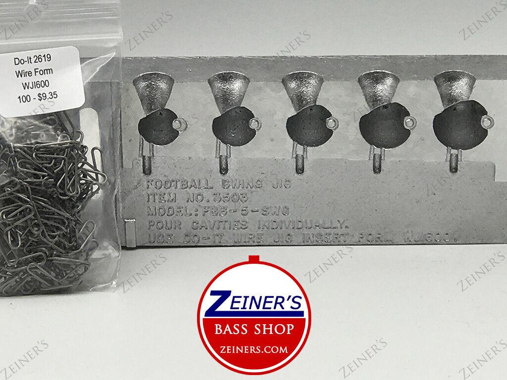 3503 Do-It Molds Football Swing Jig Mold  w form WJI600-FBB-5-SWG 1 2-1 oz 5 Cav