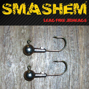 5pk-LeadFree-JIG-HEADS-10pk-SOFT-PLASTICS-Genuine-039-SMASHEM-039-Brand-FREE-POST