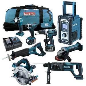 12tlg-Makita-18V-Werkzeug-Set-DHS710-ZJ-Handkreissaege-DHR241-DLX2083-M-MJ