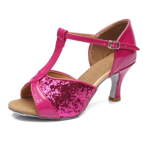 Women Girl lady/'s Ballroom Tango Latin Dance Shoes Dancing heeled Salsa 5 Color