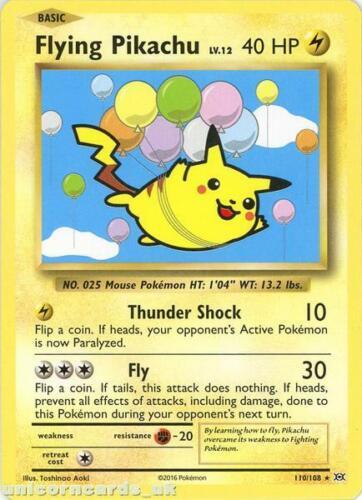 Flying Pikachu 110//108 Evolutions Rare Secret Non-Holo Mint Pokemon Card