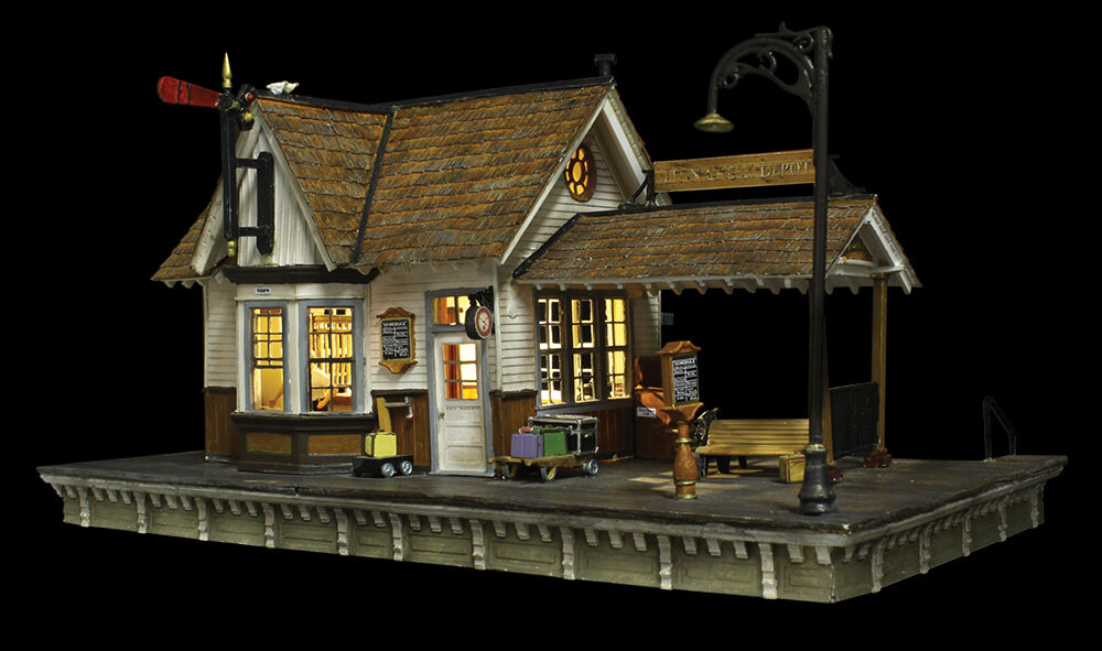 HO Scale  The Depot  costruzione w LED LED LED Built-&-Ready - Woodle Scenics  BR5052 25ec57