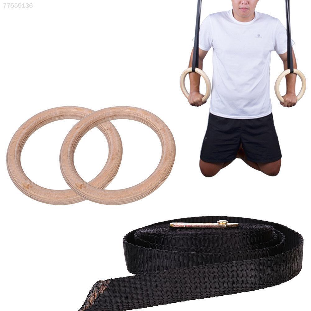 E2EF in legno Esercizi Fitness Ginnastica Anelli Regolabile Crossfit Muscolo muscolare U