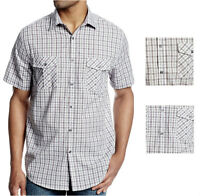 Axist Men's Checked Casual Button-front Shirt In Light Gray Purple Msrp $50