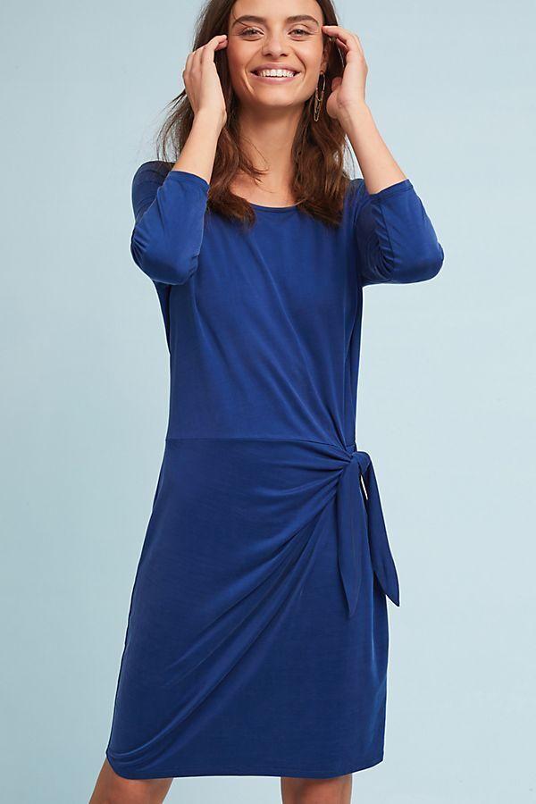 ANTHROPOLOGIE NWT SANIBEL TIE-WAIST DRESS by Dolan Left Coast Blau Sz XS