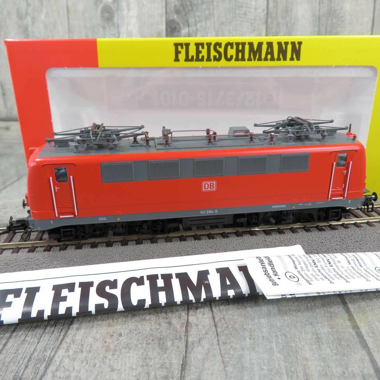 FLEISCHMANN 4325  - HO - DB - E-Lokomotive 141 284-0 - mit DSS - OVP -  R27576