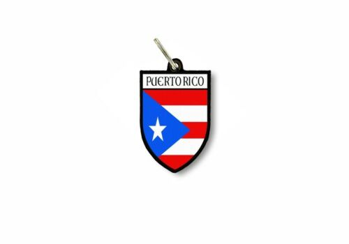 keychain key chain ring flag national souvenir shield puerto rico