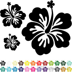 20 Hibiscus Flower Car Stickers Wall Stickers Decals Ebay