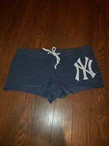 Para Mujer G Iii Mlb Ny Nueva York Yankees Pantalones Cortos Azul Marino Ebay