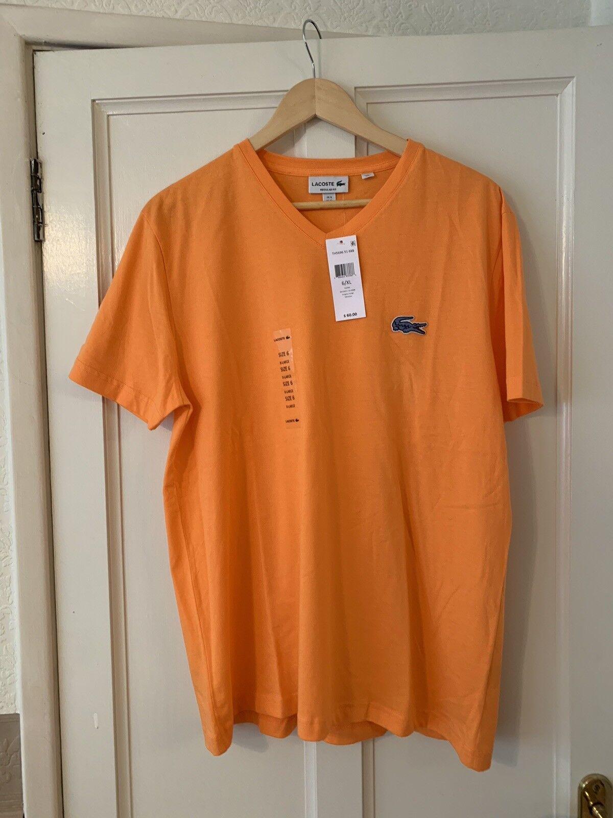 2684226ef2db BNWT Lacoste regular fit T orange. Size 6 XL Mens Shirt nidwno2312-T-Shirts
