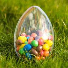 8x Large Egg Shaped Fillable Container (140mm) Wedding Favours Easter Decoration