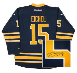 sneakers for cheap ba9b1 79644 Details about Jack Eichel Autographed Buffalo Sabres XL Blue Hockey Jersey